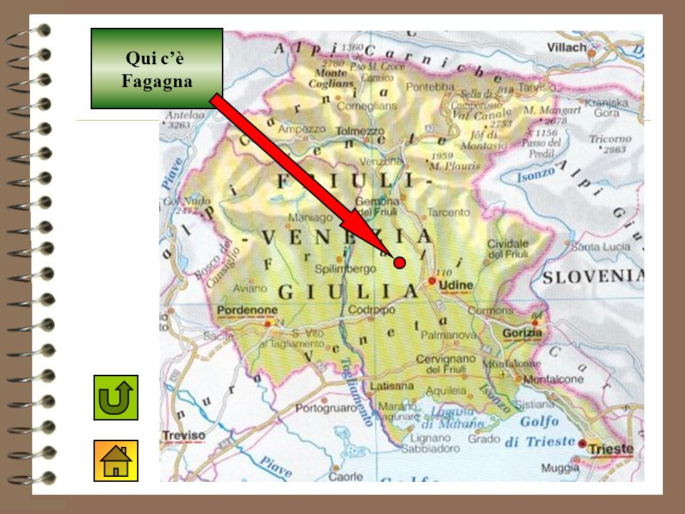 Mappa del Friuli Qui cè Fagagna