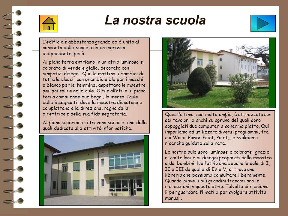 La nostra scuola Ledificio è abbastanza grande ed è unito al convento delle suore, con un ingresso indipendente, però.