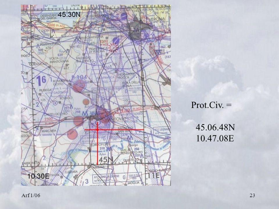 Arf 1/0623 Prot.Civ. = 45.06.48N 10.47.08E