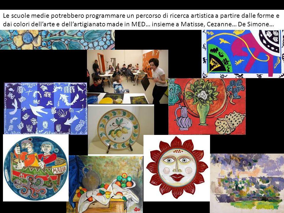 Le scuole medie potrebbero programmare un percorso di ricerca artistica a partire dalle forme e dai colori dellarte e dellartigianato made in MED… ins