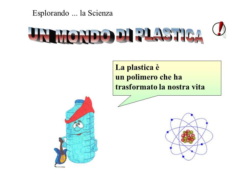 Esplorando... la Scienza La plastica è un polimero che ha trasformato la nostra vita