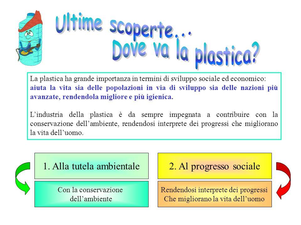 La plastica ha grande importanza in termini di sviluppo sociale ed economico: aiuta la vita sia delle popolazioni in via di sviluppo sia delle nazioni