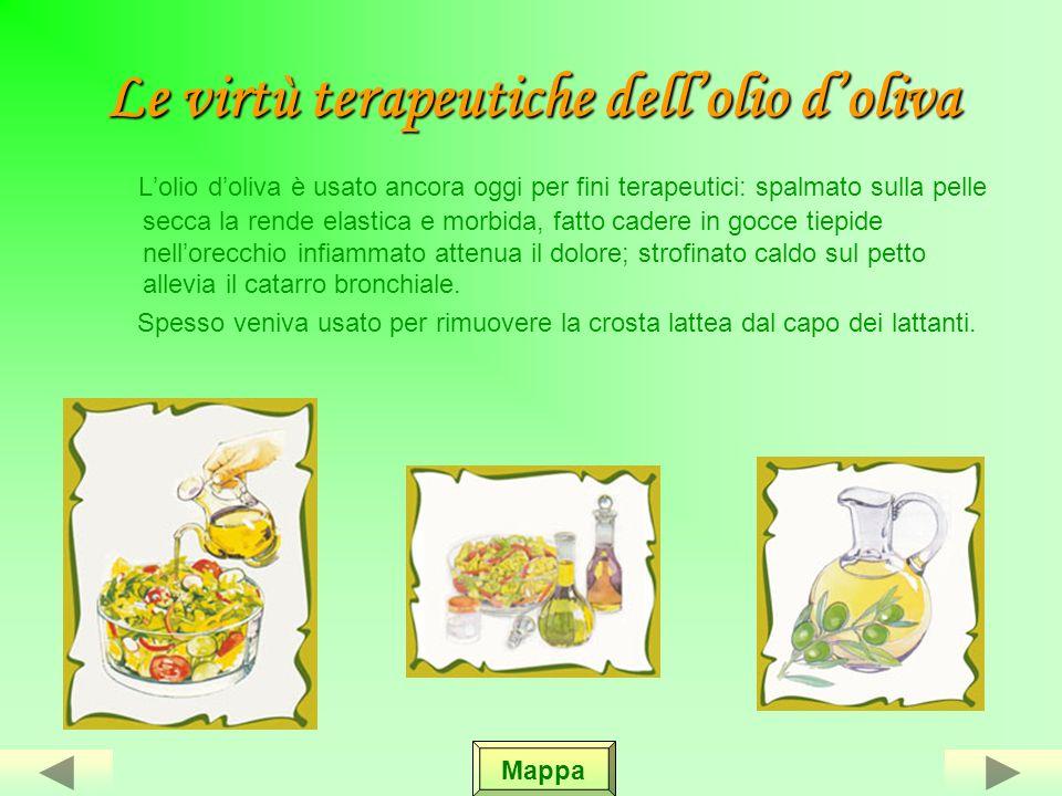 Le olive da mensa Ci sono alcune varietà di olive da mensa che vengono conservate in salamoia. Nella salamoia le olive vengono dolcificate con calce i