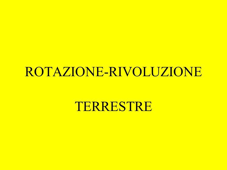 ROTAZIONE-RIVOLUZIONE TERRESTRE