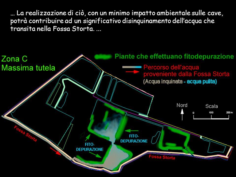 … La realizzazione di ciò, con un minimo impatto ambientale sulle cave, potrà contribuire ad un significativo disinquinamento dellacqua che transita n