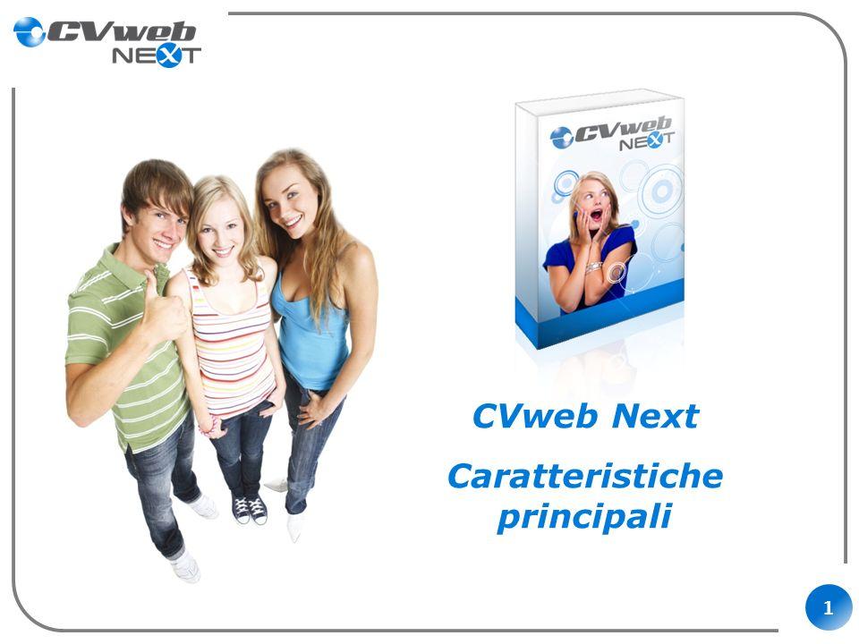 1 CVweb Next Caratteristiche principali