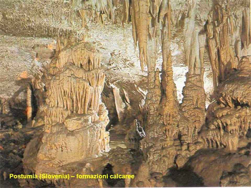 Fuori dai confini italiani in Slovenia particolare interesse hanno le Grotte di Postumia ; classico esempio di carsismo. Poche regioni al mondo hanno