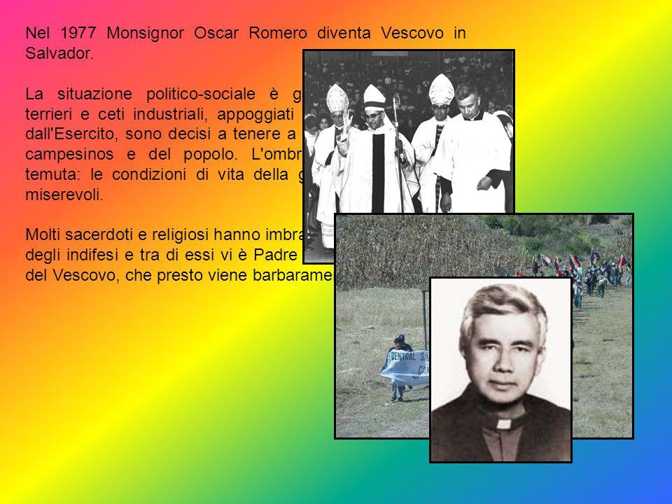 Oscar Romero nasce a Ciudad Barrios di El Salvador il 15 marzo 1917 da una famiglia modesta. Avviato alletà di 12 anni come apprendista presso un fale