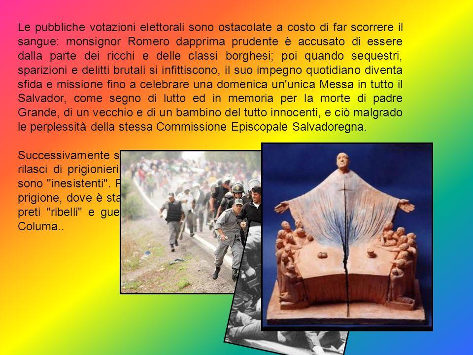 Nel 1977 Monsignor Oscar Romero diventa Vescovo in Salvador. La situazione politico-sociale è gravissima: proprietari terrieri e ceti industriali, app