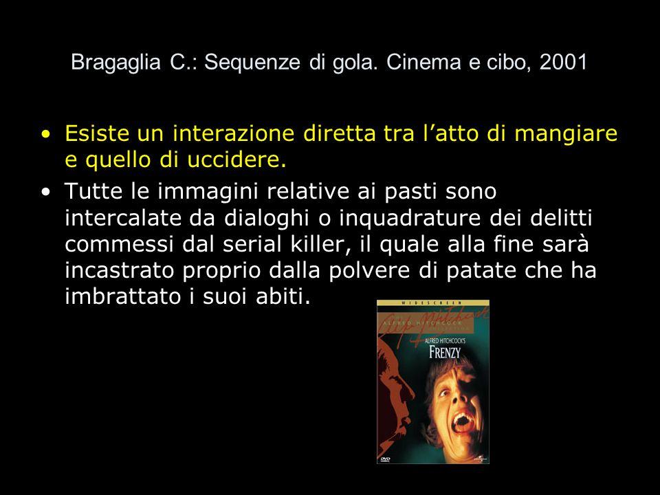 Bragaglia C.: Sequenze di gola. Cinema e cibo, 2001 Esiste un interazione diretta tra latto di mangiare e quello di uccidere. Tutte le immagini relati