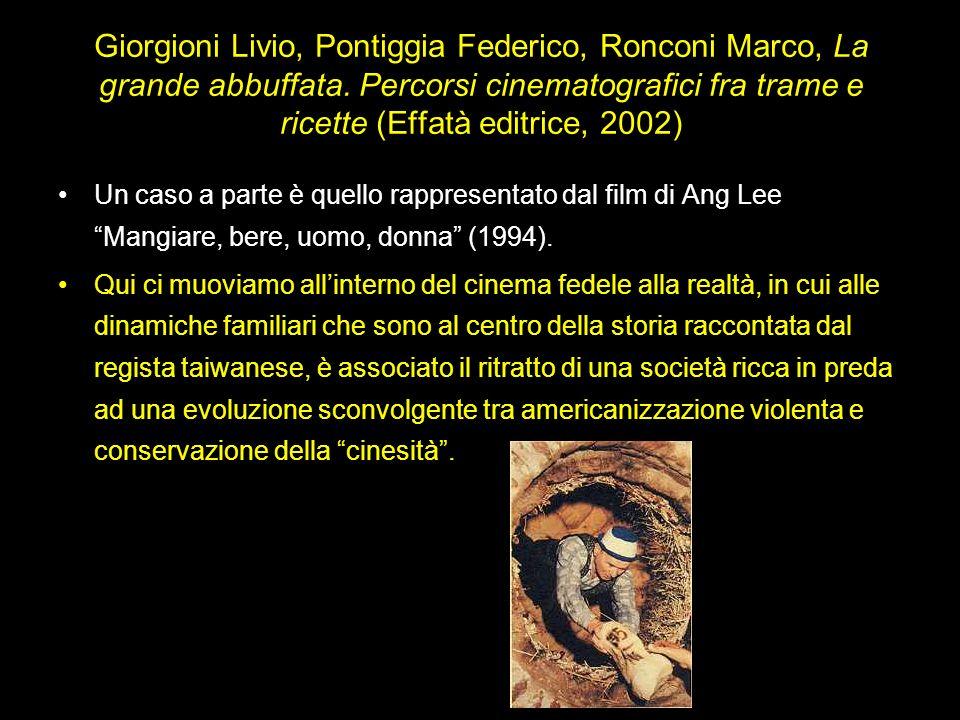 Giorgioni Livio, Pontiggia Federico, Ronconi Marco, La grande abbuffata. Percorsi cinematografici fra trame e ricette (Effatà editrice, 2002) Un caso