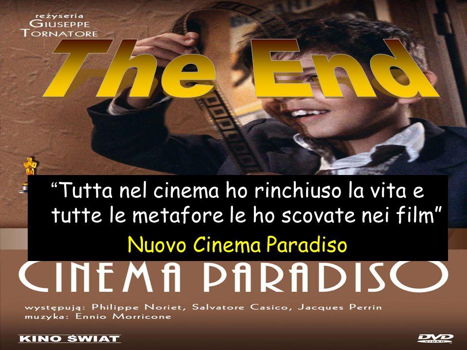 Tutta nel cinema ho rinchiuso la vita e tutte le metafore le ho scovate nei film Nuovo Cinema Paradiso