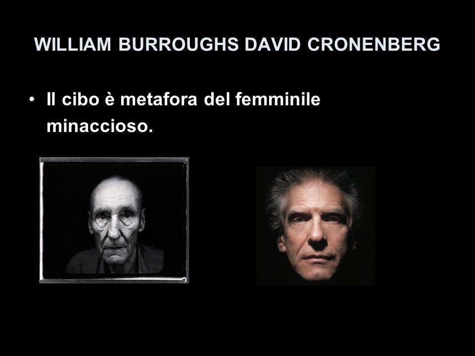 WILLIAM BURROUGHS DAVID CRONENBERG Il cibo è metafora del femminile minaccioso.