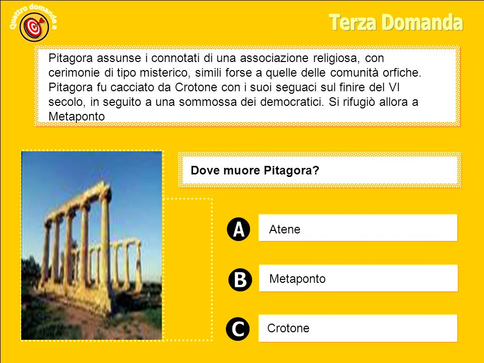 Atene Crotone Metaponto Dove muore Pitagora.