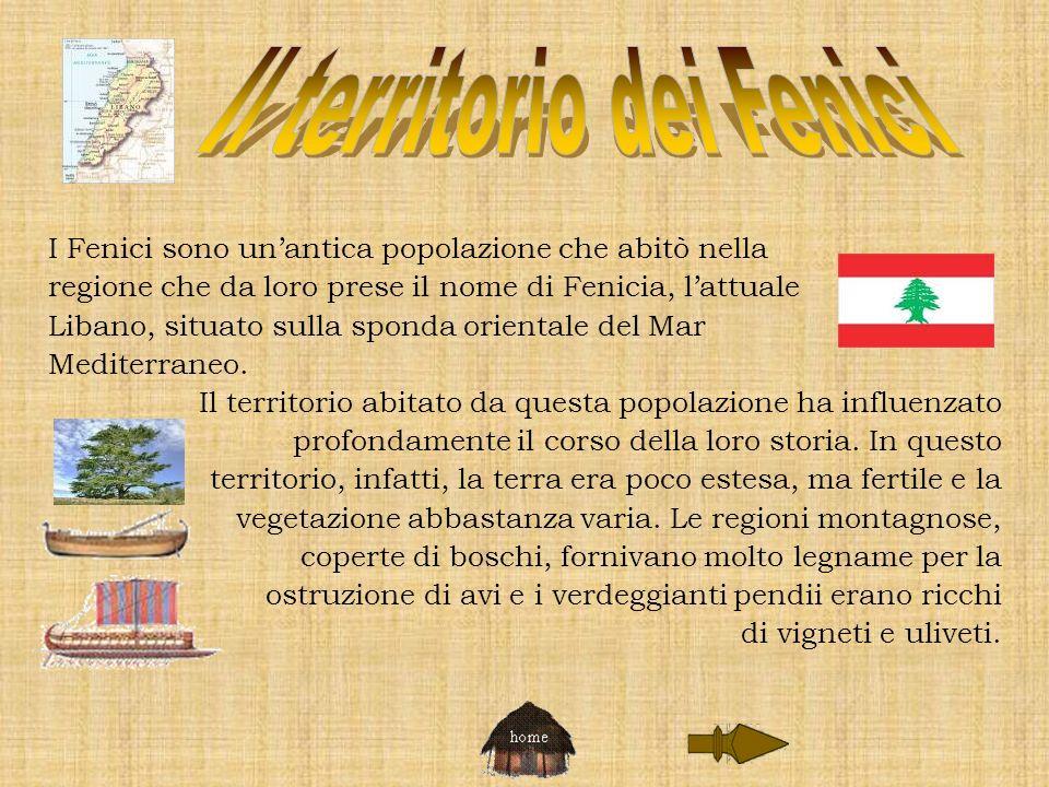 I Fenici sono unantica popolazione che abitò nella regione che da loro prese il nome di Fenicia, lattuale Libano, situato sulla sponda orientale del M