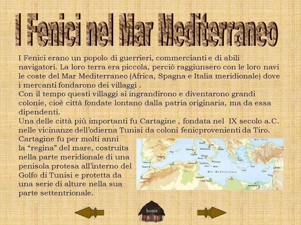 I Fenici erano un popolo di guerrieri, commercianti e di abili navigatori. La loro terra era piccola, perciò raggiunsero con le loro navi le coste del