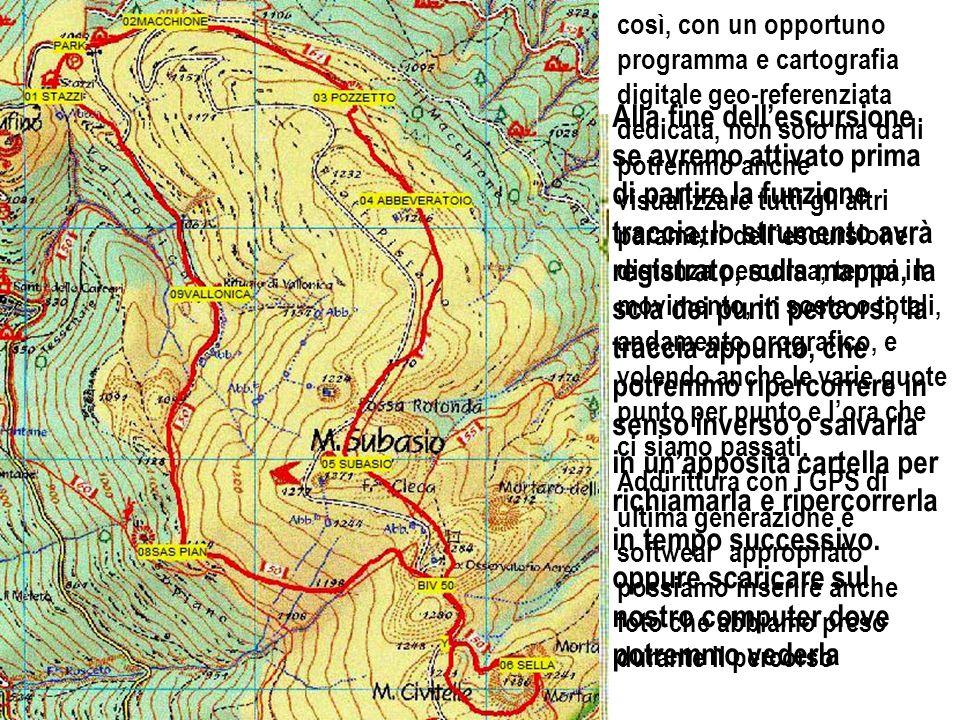 CORSO DI ORIENTAMENTO così abbiamo introdotto un nuovo argomento: Software di Navigazione Carte Digitali