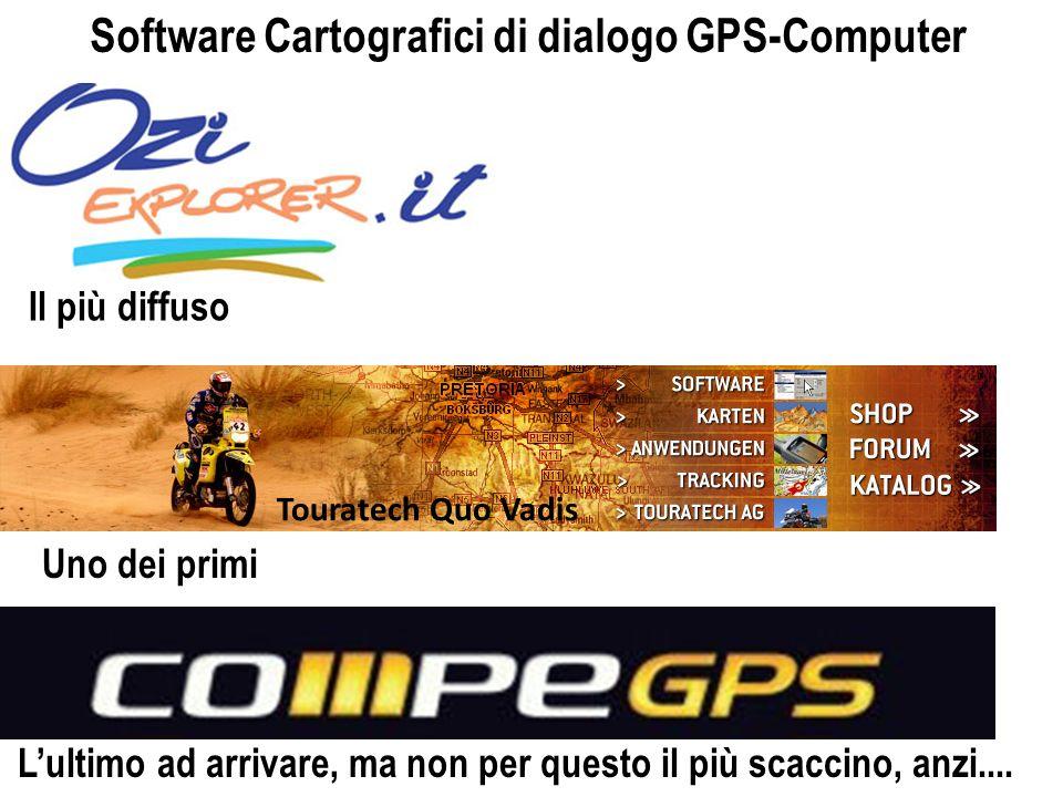 Touratech Quo Vadis Il più diffuso Uno dei primi Lultimo ad arrivare, ma non per questo il più scaccino, anzi.... Software Cartografici di dialogo GPS