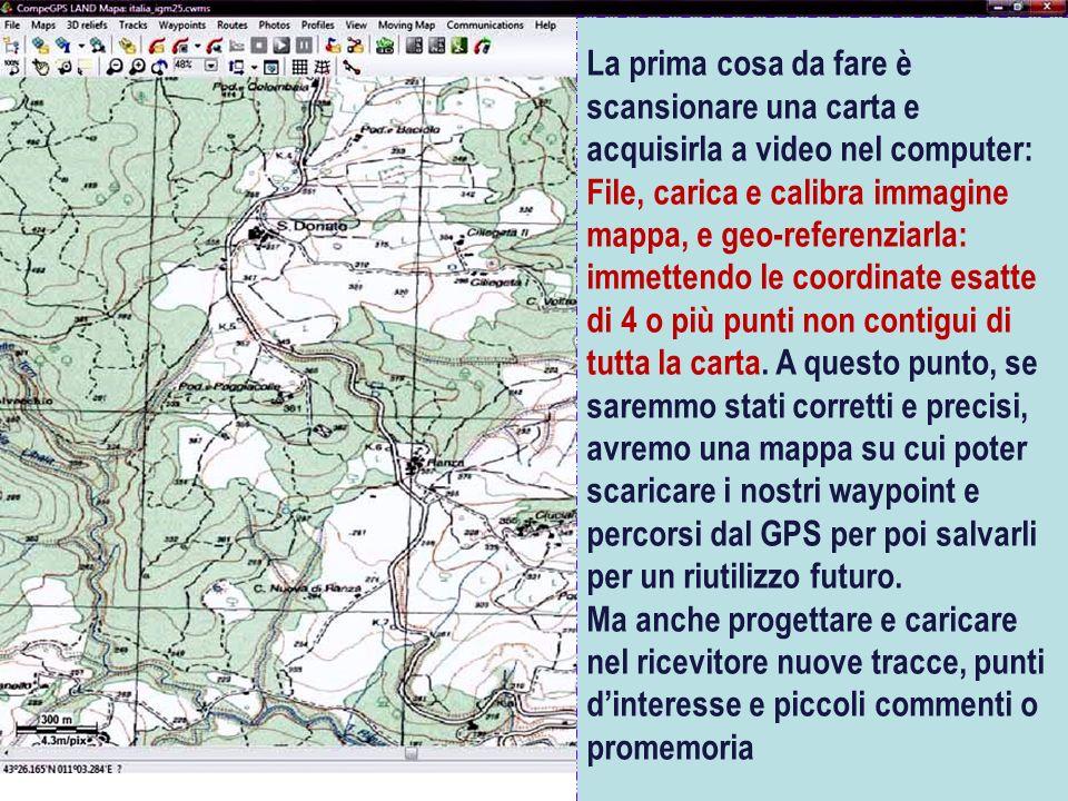 CORSO DI ORIENTAMENTO Carte digitali in commercio Sono molto dettagliate ma relative alla sola viabilità stradale.