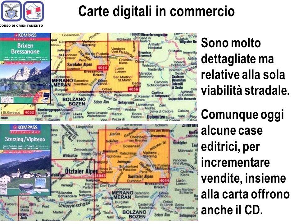 CORSO DI ORIENTAMENTO Carte digitali Esistono dei siti gratuiti nel web in cui vengono rese disponibili per la visualizzazione a video ed il successivo salvataggio, mappe dinteresse per la navigazione terrestre.