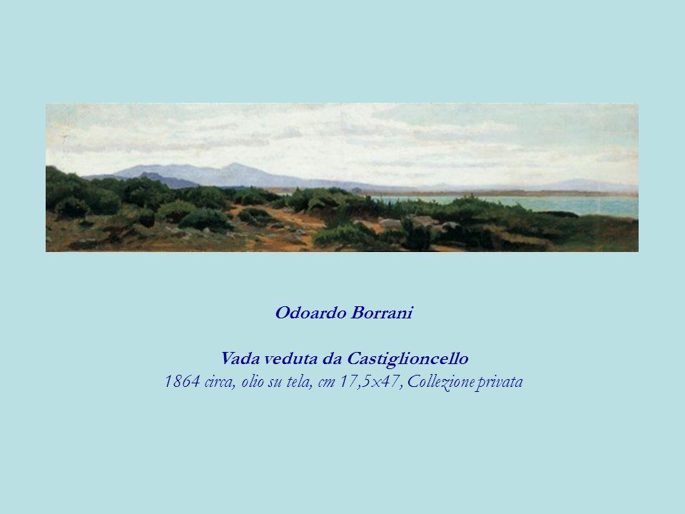 Odoardo Borrani Vada veduta da Castiglioncello 1864 circa, olio su tela, cm 17,5x47, Collezione privata