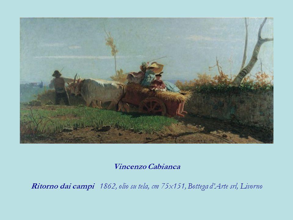 Vincenzo Cabianca Ritorno dai campi 1862, olio su tela, cm 75x151, Bottega dArte srl, Livorno