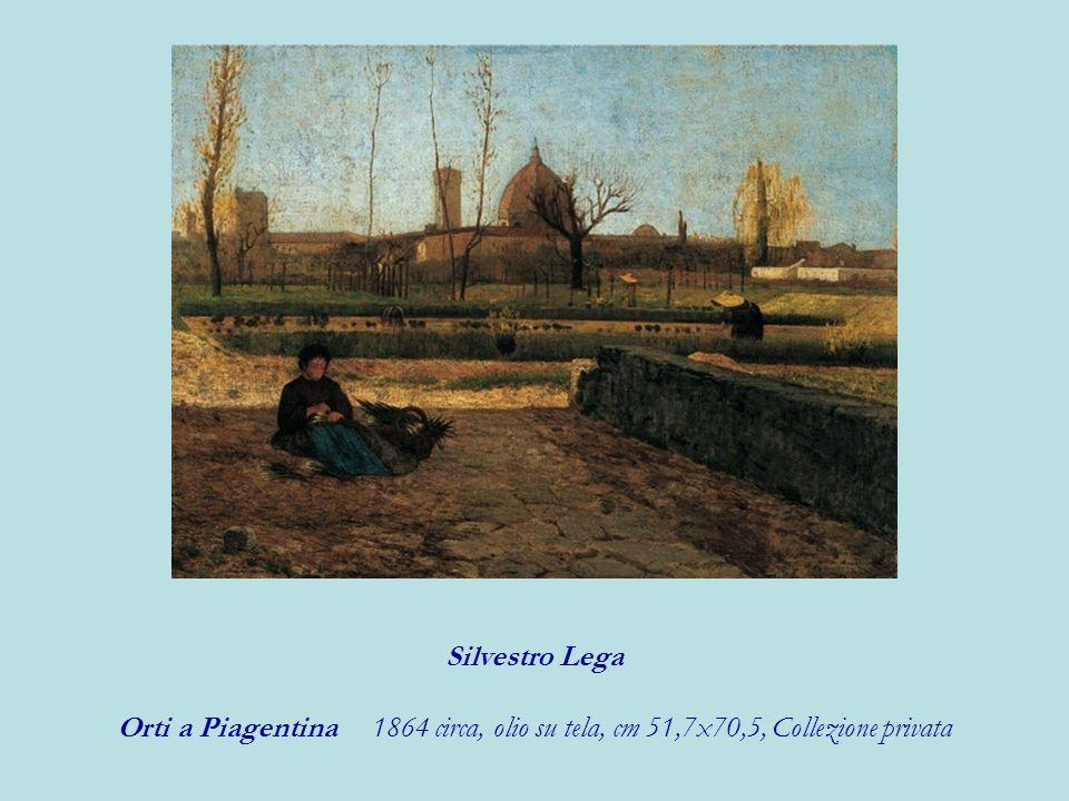 Silvestro Lega Orti a Piagentina 1864 circa, olio su tela, cm 51,7x70,5, Collezione privata