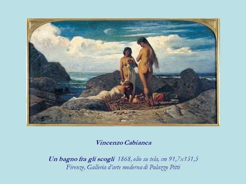 Vincenzo Cabianca Un bagno fra gli scogli 1868, olio su tela, cm 91,7x151,5 Firenze, Galleria darte moderna di Palazzo Pitti