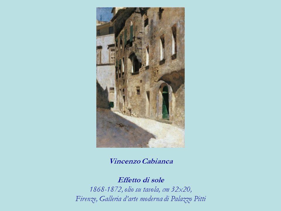 Vincenzo Cabianca Effetto di sole 1868-1872, olio su tavola, cm 32x20, Firenze, Galleria darte moderna di Palazzo Pitti