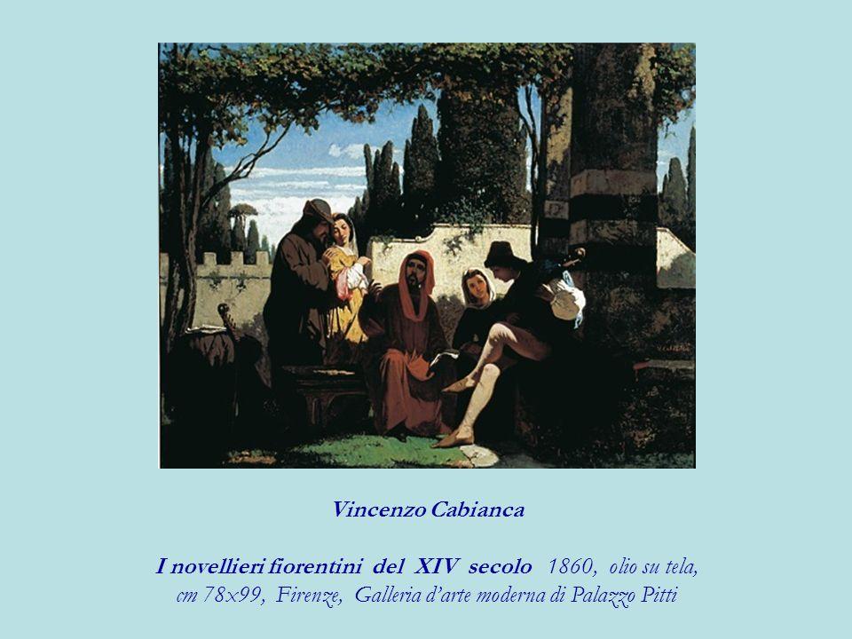 Vincenzo Cabianca I novellieri fiorentini del XIV secolo 1860, olio su tela, cm 78x99, Firenze, Galleria darte moderna di Palazzo Pitti