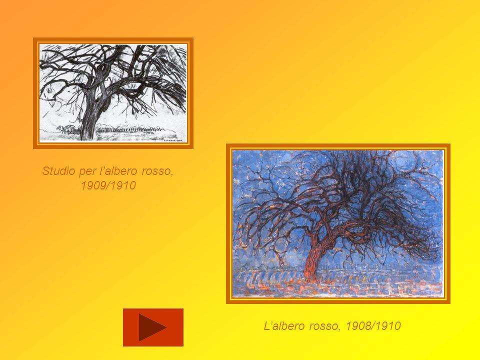Lalbero è per Mondrian unoccasione per sperimentare levoluzione e la trasformazione della forma. Egli, nellarco di quattro anni, ha disegnato e dipint