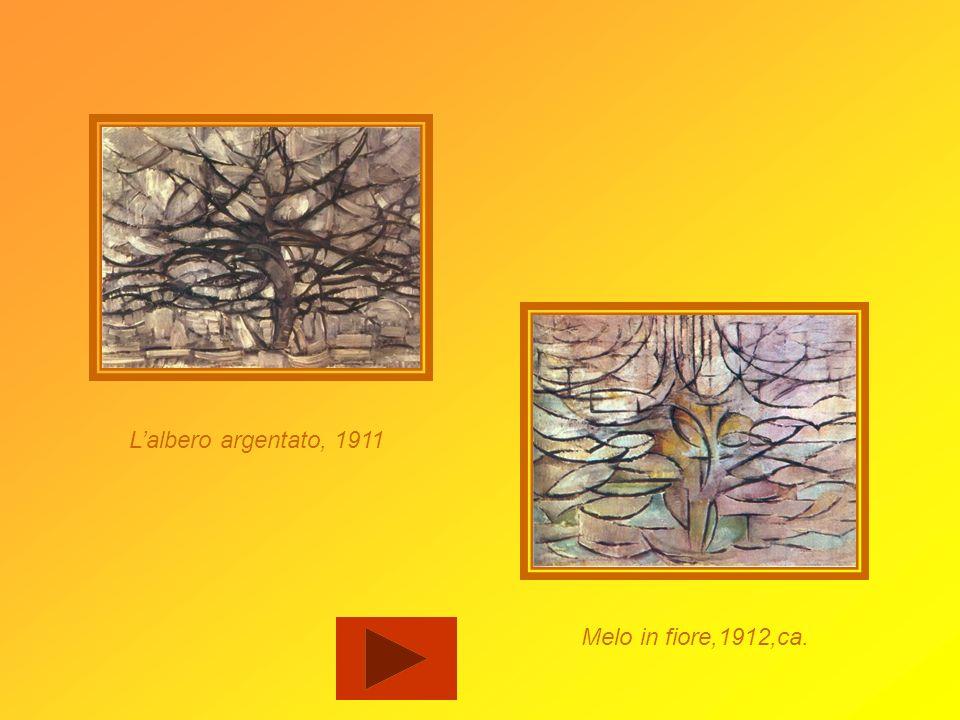 Studio per lalbero rosso, 1909/1910 Lalbero rosso, 1908/1910