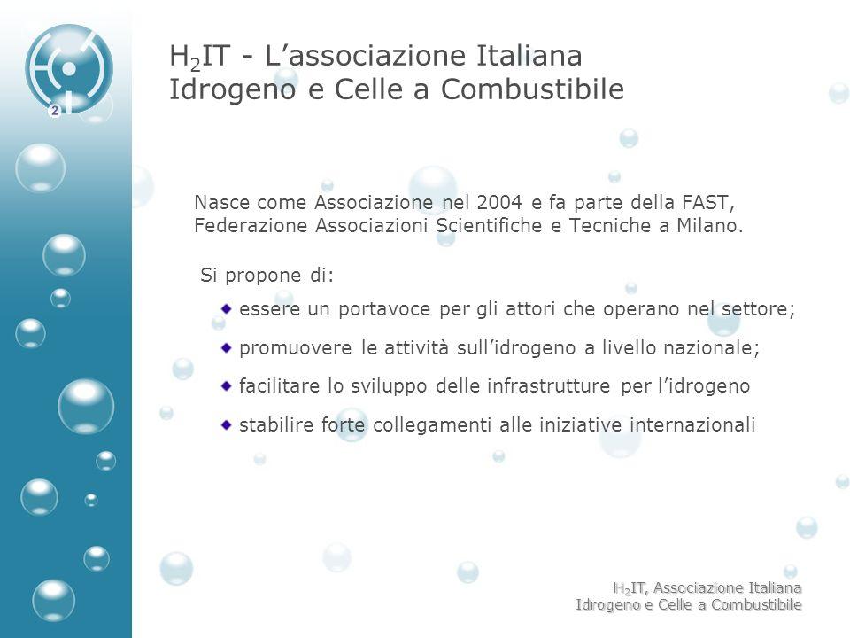 H 2 IT, Associazione Italiana Idrogeno e Celle a Combustibile H 2 IT - Lassociazione Italiana Idrogeno e Celle a Combustibile Nasce come Associazione