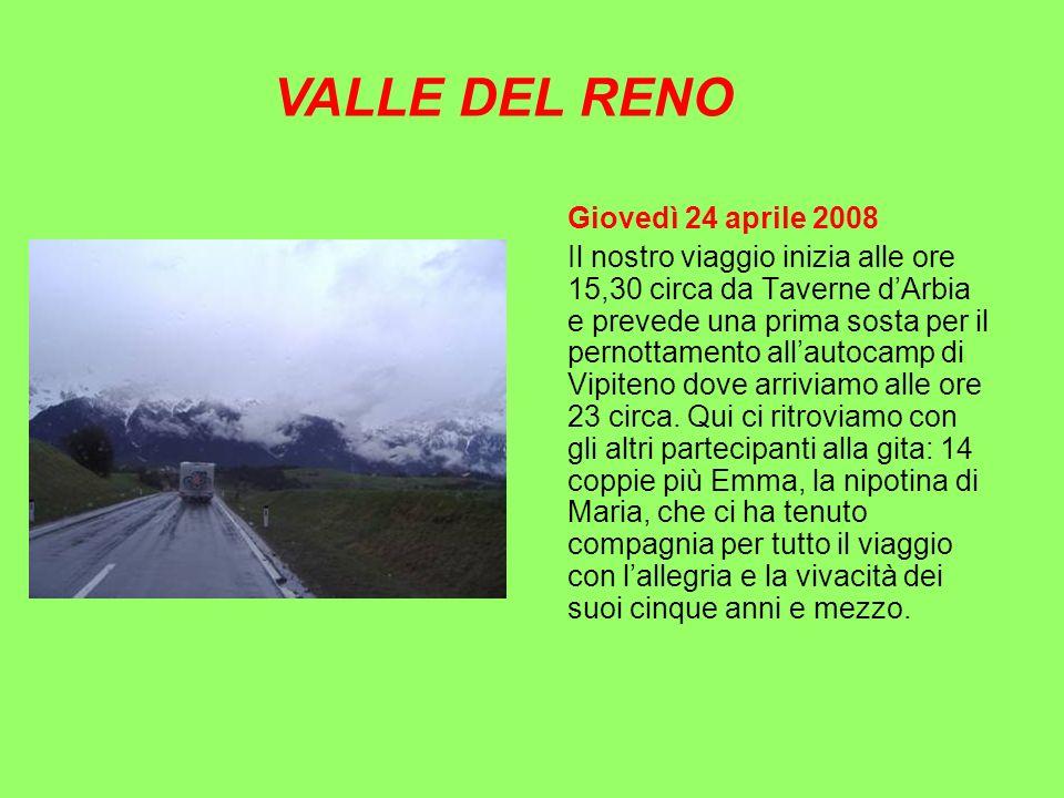 Giovedì 24 aprile 2008 Il nostro viaggio inizia alle ore 15,30 circa da Taverne dArbia e prevede una prima sosta per il pernottamento allautocamp di V