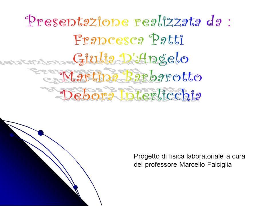 Progetto di fisica laboratoriale a cura del professore Marcello Falciglia