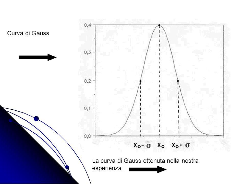 Curva di Gauss La curva di Gauss ottenuta nella nostra esperienza.