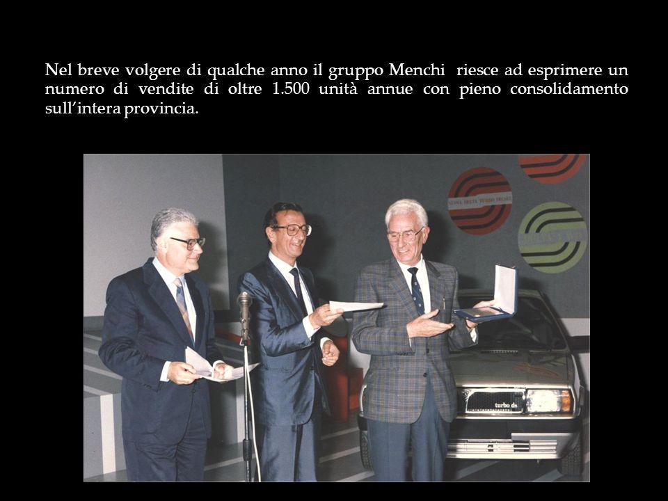 Nel breve volgere di qualche anno il gruppo Menchi riesce ad esprimere un numero di vendite di oltre 1.500 unità annue con pieno consolidamento sullin