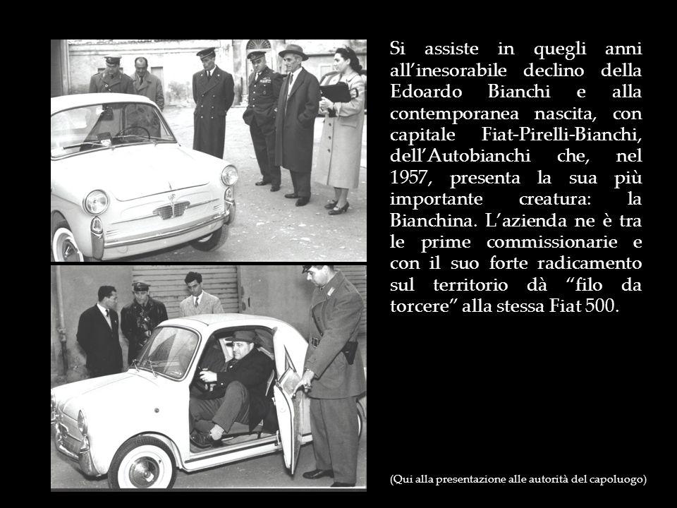 Si assiste in quegli anni allinesorabile declino della Edoardo Bianchi e alla contemporanea nascita, con capitale Fiat-Pirelli-Bianchi, dellAutobianch