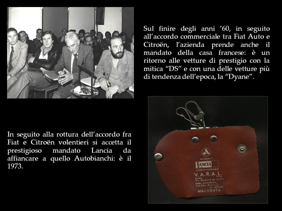 Sul finire degli anni 60, in seguito allaccordo commerciale tra Fiat Auto e Citroën, lazienda prende anche il mandato della casa francese: è un ritorn