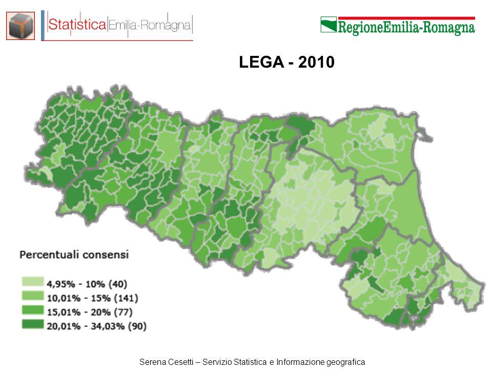 Serena Cesetti – Servizio Statistica e Informazione geografica LEGA - 2010