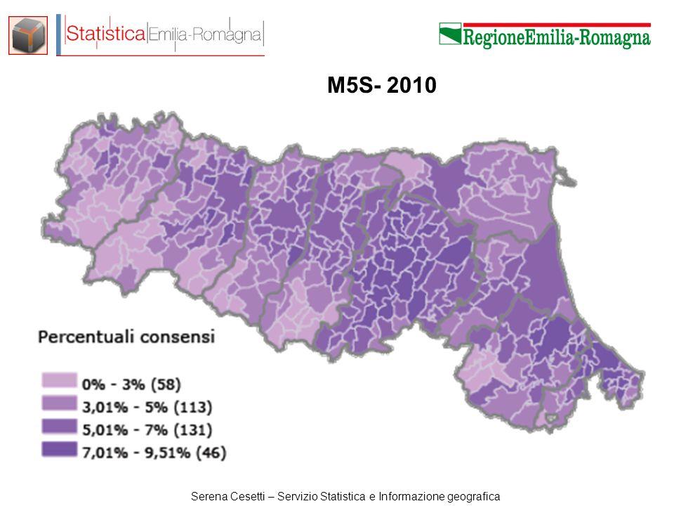 Serena Cesetti – Servizio Statistica e Informazione geografica M5S- 2010