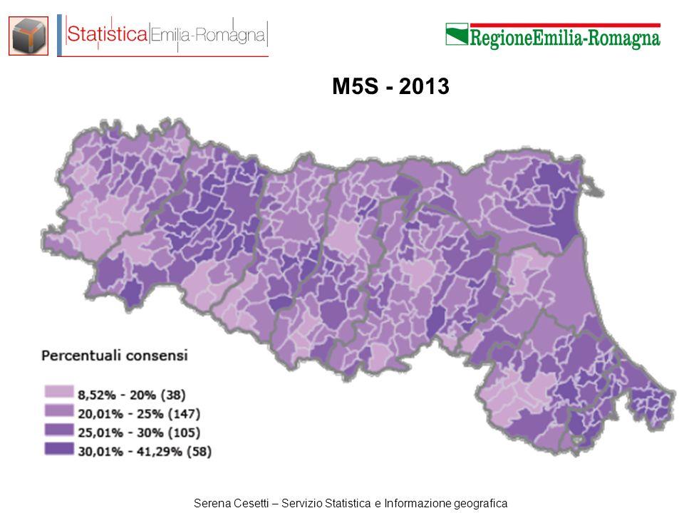 Serena Cesetti – Servizio Statistica e Informazione geografica M5S - 2013