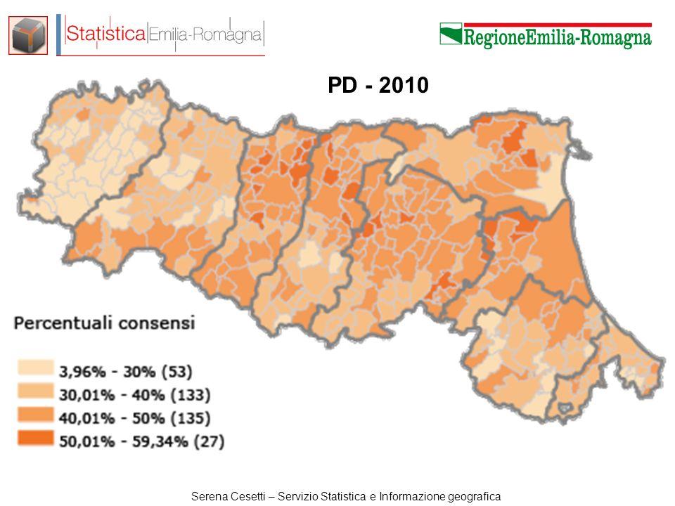Serena Cesetti – Servizio Statistica e Informazione geografica M5S: 2013-2010