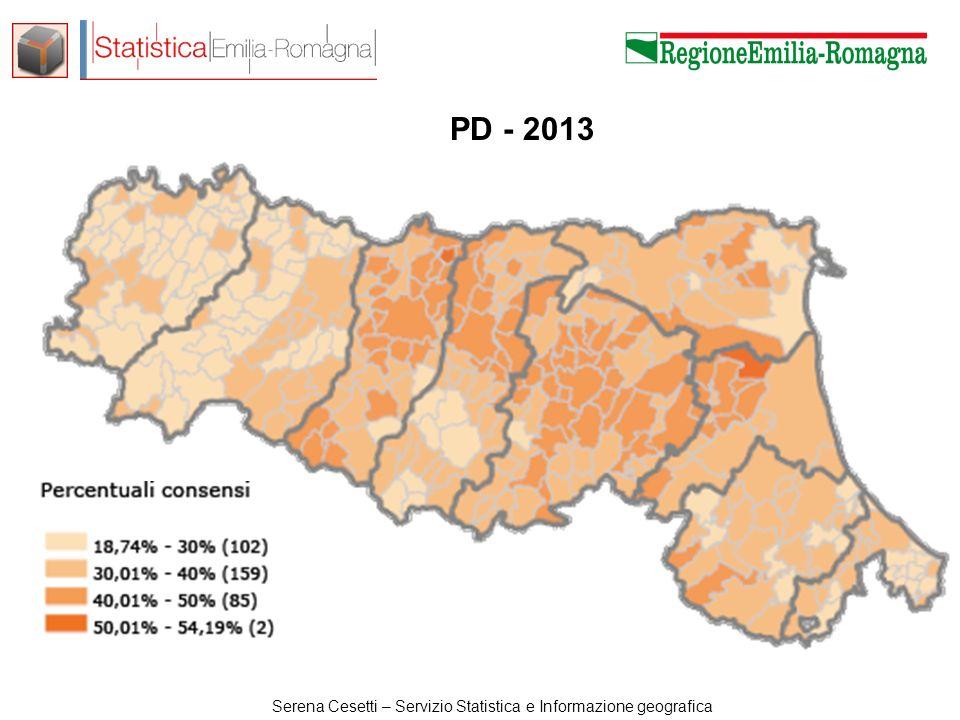 Serena Cesetti – Servizio Statistica e Informazione geografica SEL - 2010