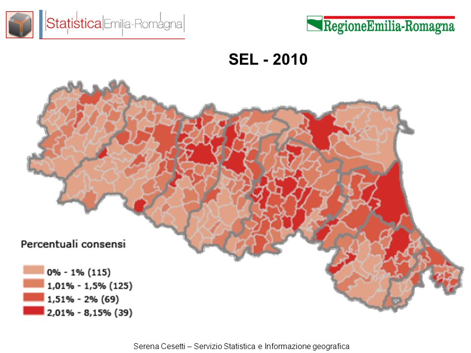 Serena Cesetti – Servizio Statistica e Informazione geografica Lega Nord M5SAltri Liste Monti IDVSEL Rivoluzion e Civile PDL Non voto Presidente PD Flusso presente in 5 o 6 città su 8 Flusso presente in 7 o 8 città su 8 Regionali 2010- Camera 2013.