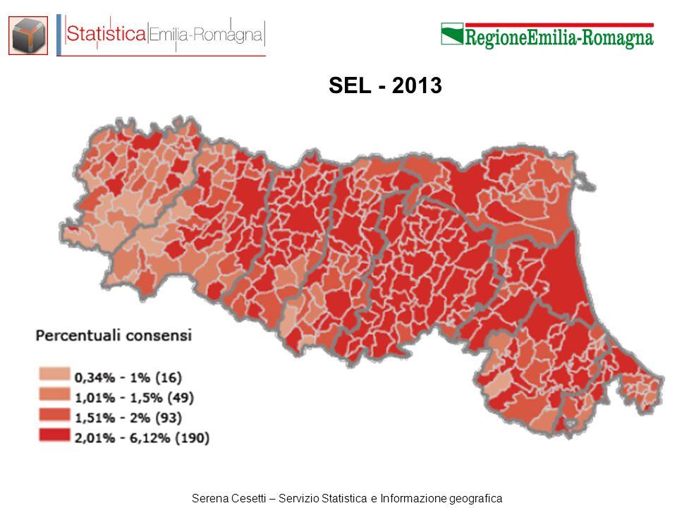 Serena Cesetti – Servizio Statistica e Informazione geografica SEL - 2013