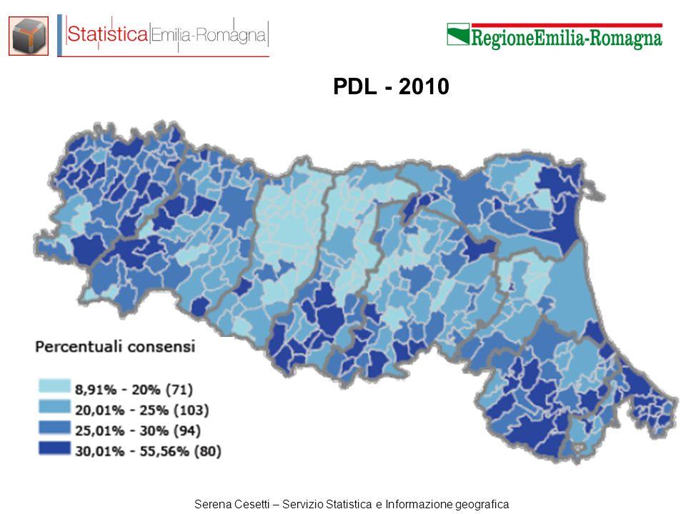 Serena Cesetti – Servizio Statistica e Informazione geografica PDL - 2013