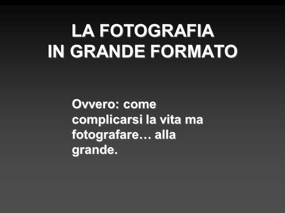 LA FOTOGRAFIA IN GRANDE FORMATO Ovvero: come complicarsi la vita ma fotografare… alla grande.