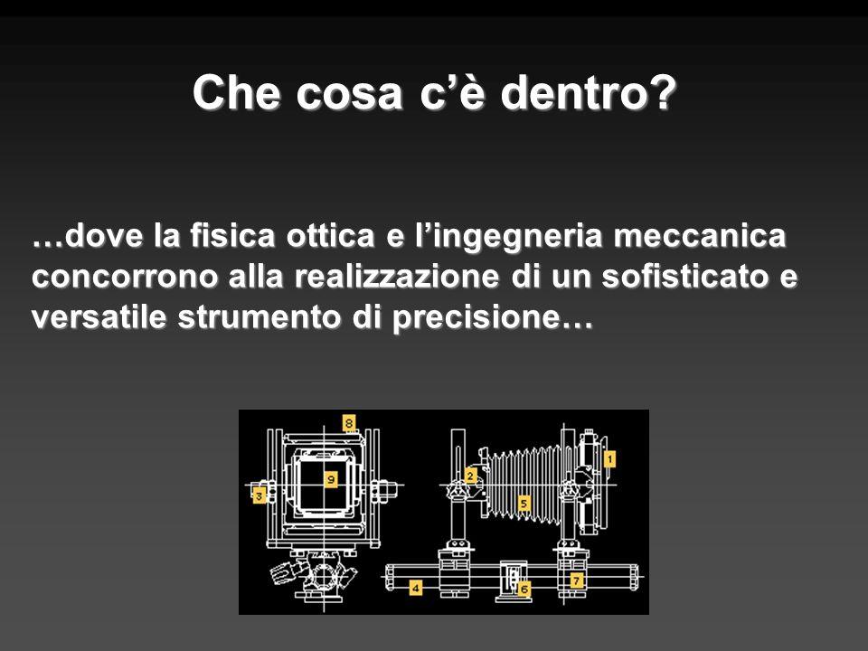 Che cosa cè dentro? …dove la fisica ottica e lingegneria meccanica concorrono alla realizzazione di un sofisticato e versatile strumento di precisione