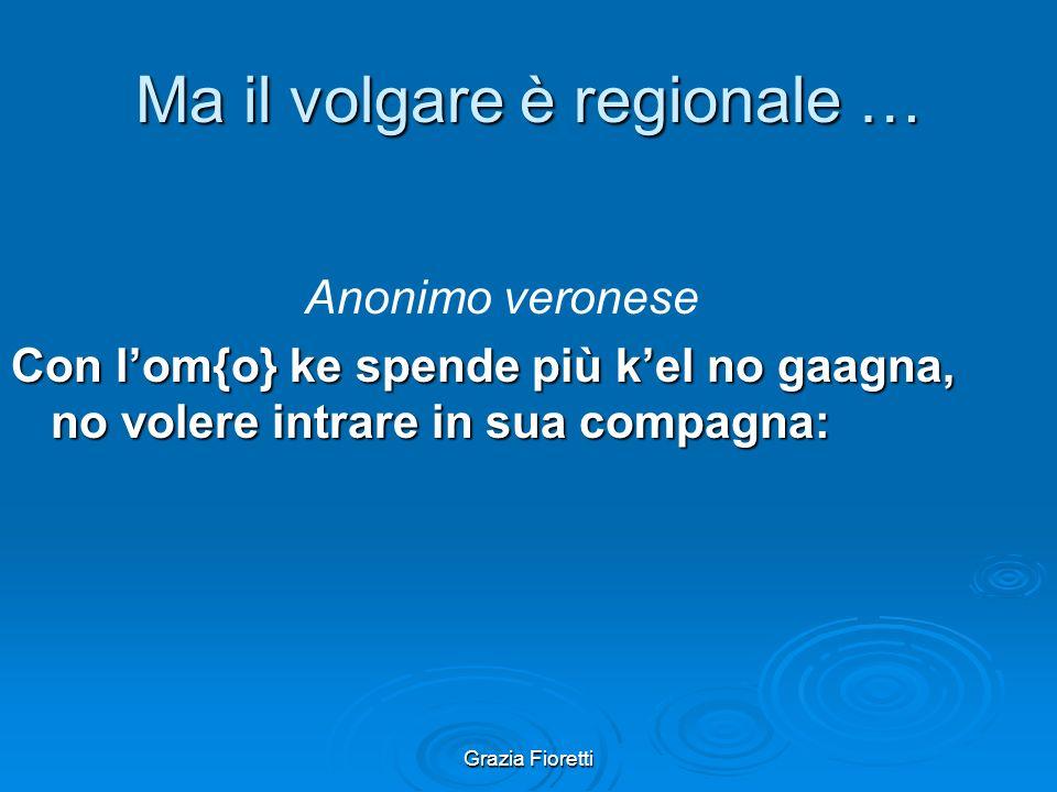 Grazia Fioretti La testimonianza orale